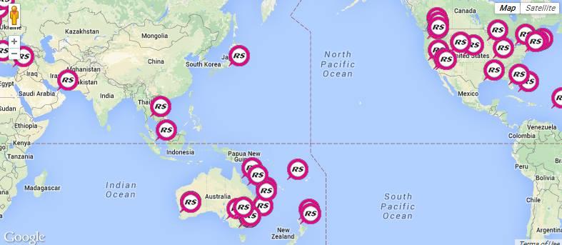 News WORLD MAP UPDATED RS Aero Class Association - Updated world map